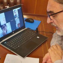 Luis Basterra en videoconferencia