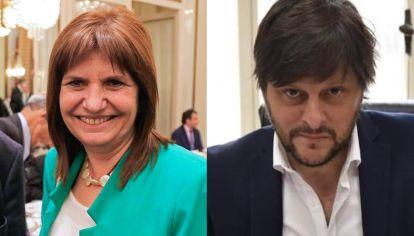 Patricia Bullrich y Leandro Santoro