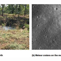Los cráteres son similares a los de la luna.