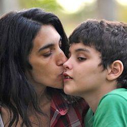 Valeria Salech y su hijo Emiliano