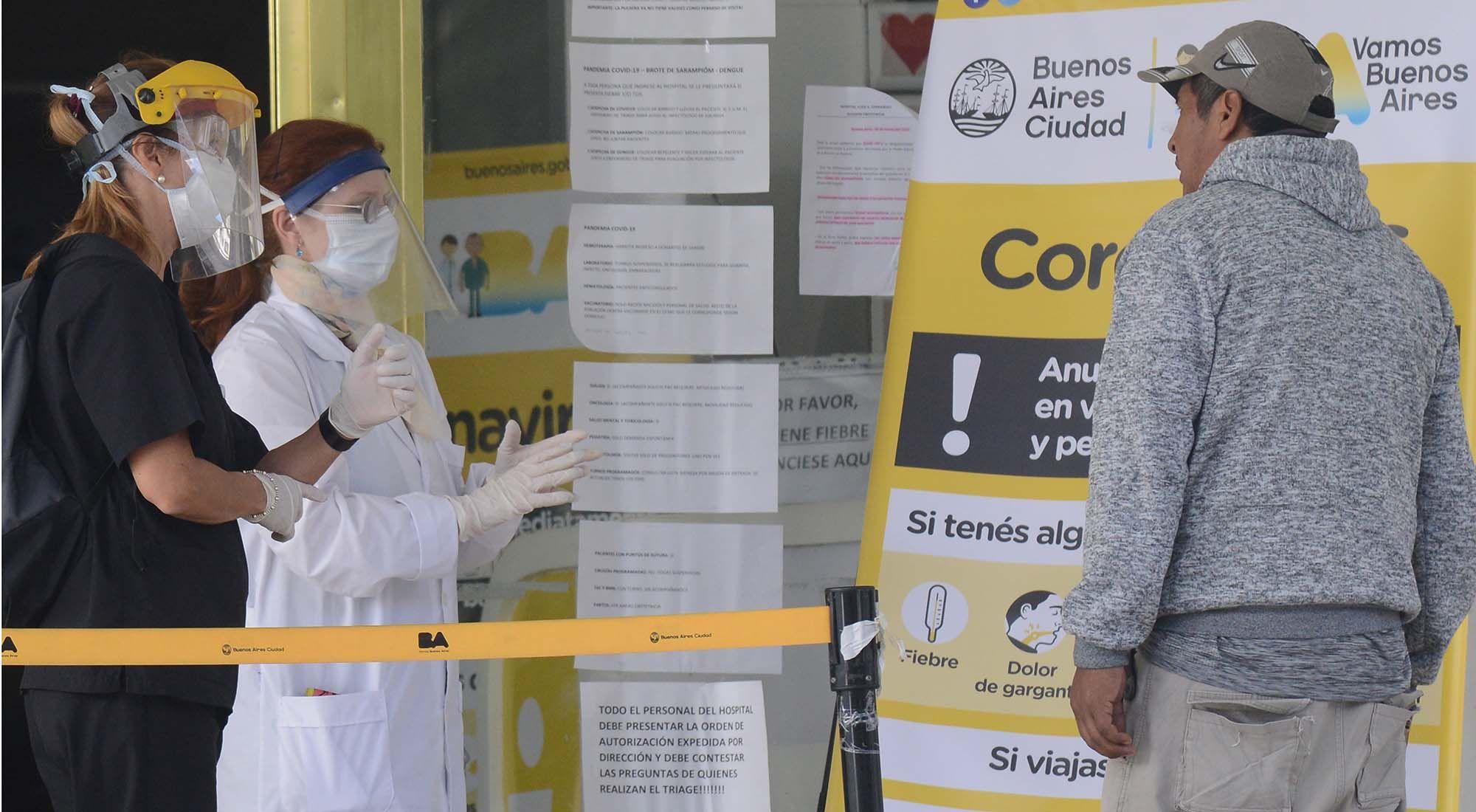 Guardia en el Hospital Fernandez coronavirus