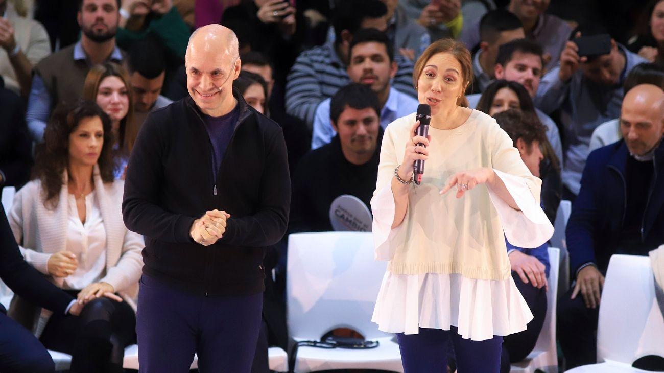 Archivo. Larreta y Vidal. Juntos.