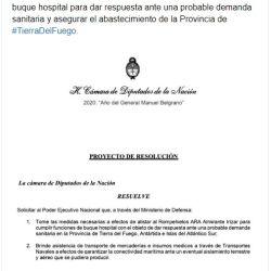 El diputado presentó su propuesta a través de una carta.
