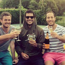 Caico Macri con amigos | Foto:Cedoc