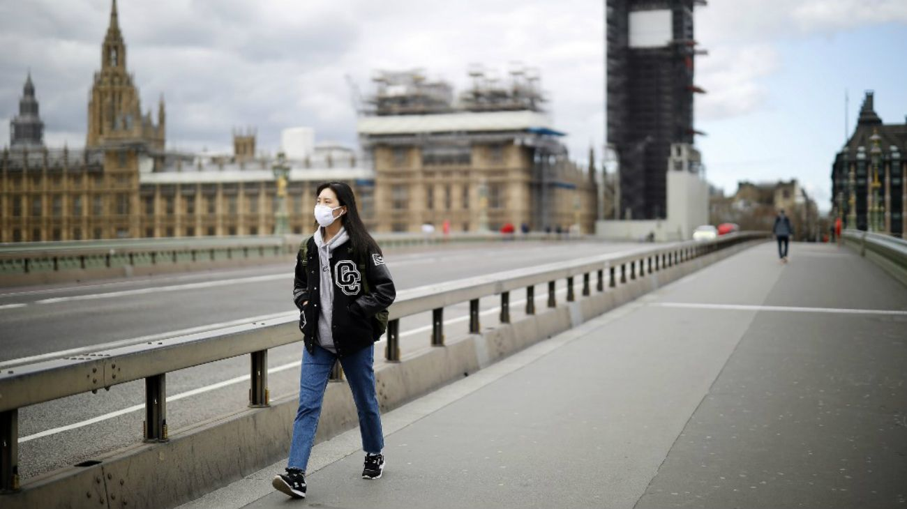 Londres en plena cuarentena por la pandemia.