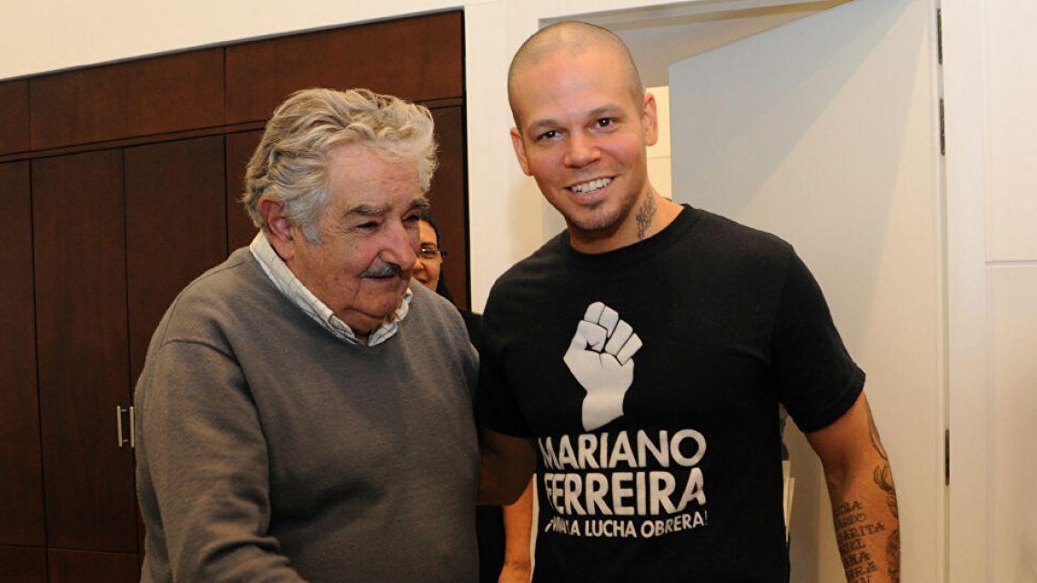 Mujica y Residente, en el 2012   Foto:Cedoc