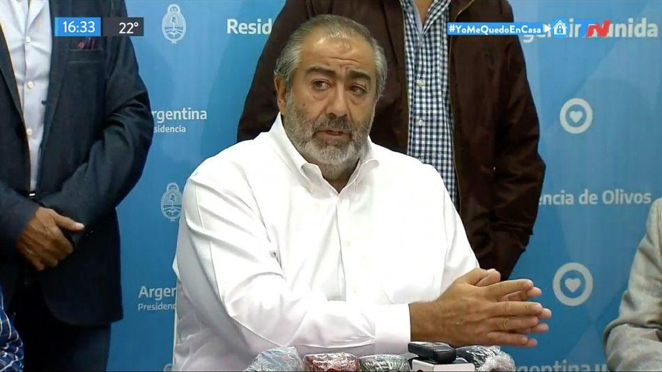 Héctor Daer, de la CGT, habló sobre los pasos a seguir con la cuarentena.