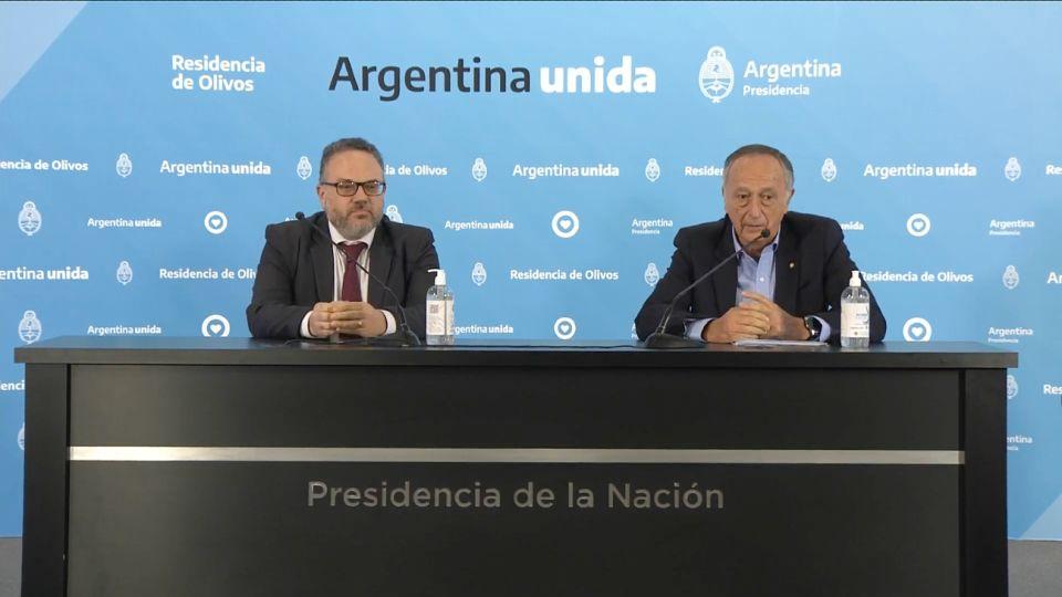Matías Kulfas junto a Miguel Acevedo.