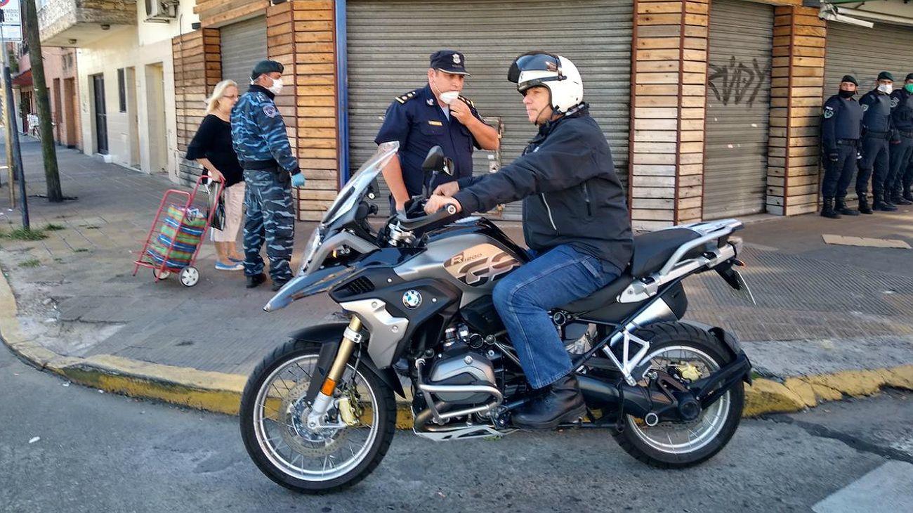 Sergio Berni, recorriendo este fin de semana calles de La Matanza.