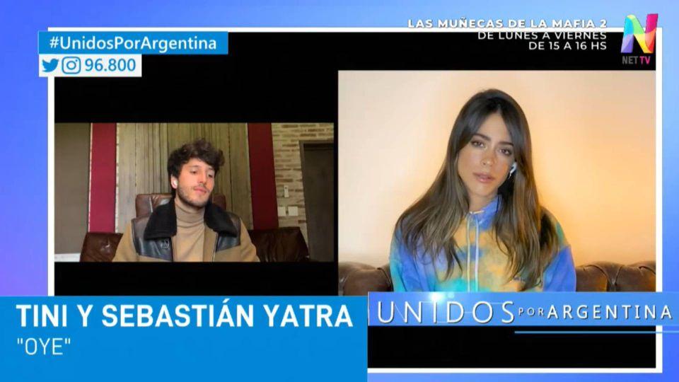 Sebastián Yatra y Tini Stoessel grabaron un video para el programa