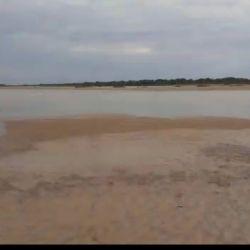 Bajante del río Uruguay: así está Goya.