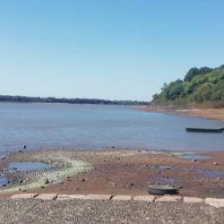 Bajante del Río Uruguay: así está Puerto Yeruá.
