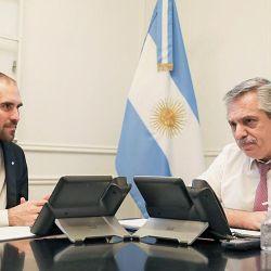 Martín Guzmán y Alberto Fernández | Foto:Cedoc