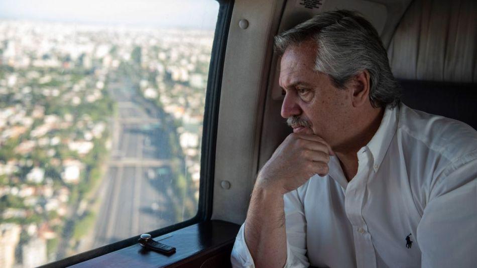 Alberto en helicóptero