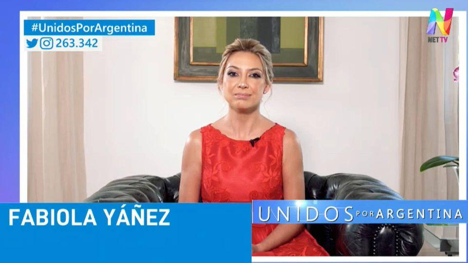 Fabiola Yáñez participó con un mensaje grabado desde Olivos.