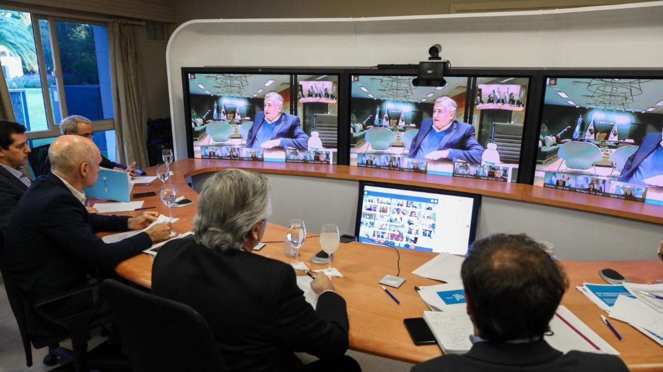 Alberto encabeza videoconferencia con gobernadores para definir la salida de la cuarentena