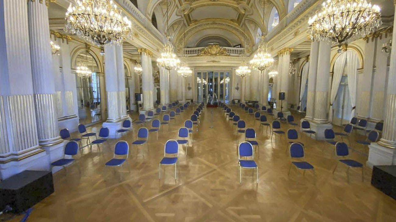 El salón Dorado del Palacio legislativo.