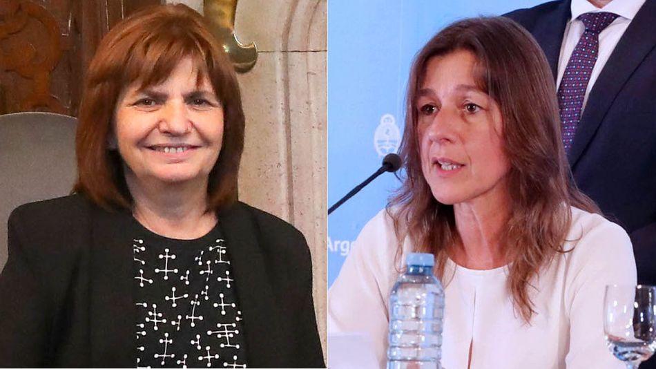 Patrica Bullrich y Sabina Frederic 20200407