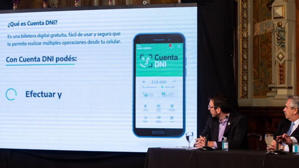 La presentación de la app Cuenta DNI.