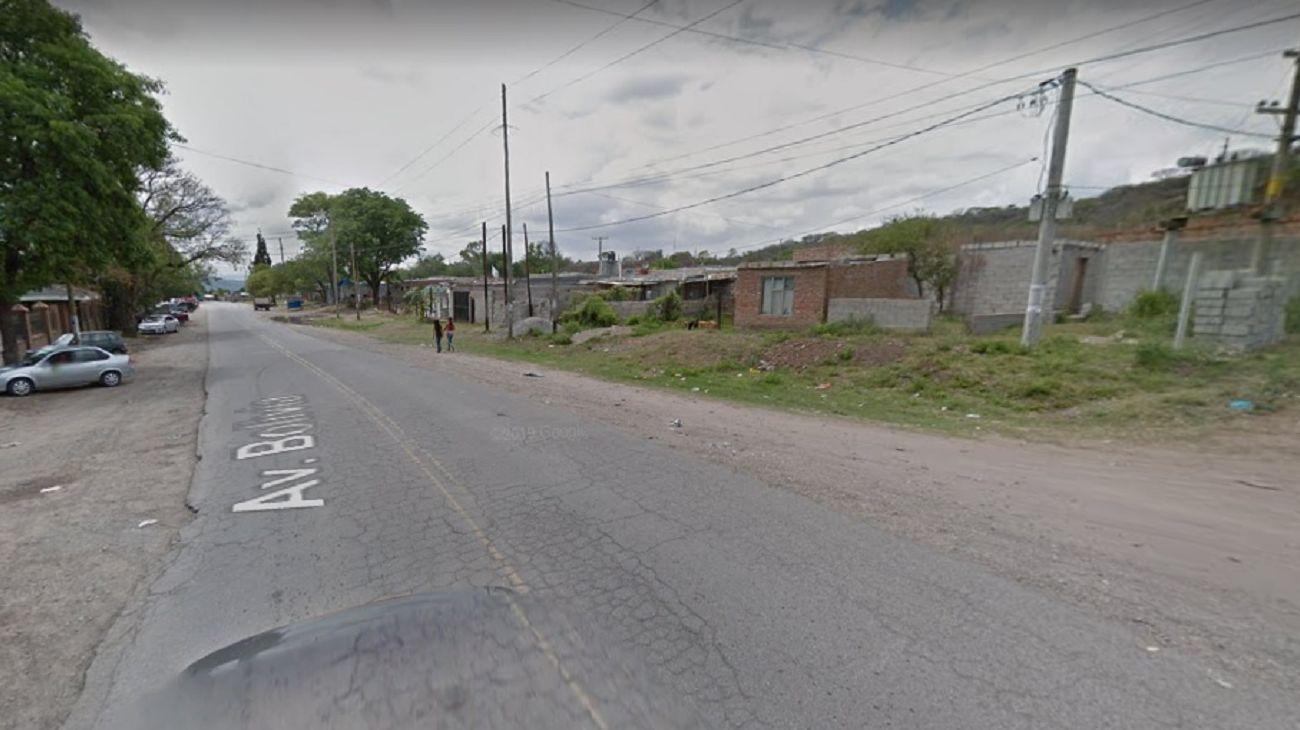 La avenida Bolivia del barrio jujeño de Los Huaicos.