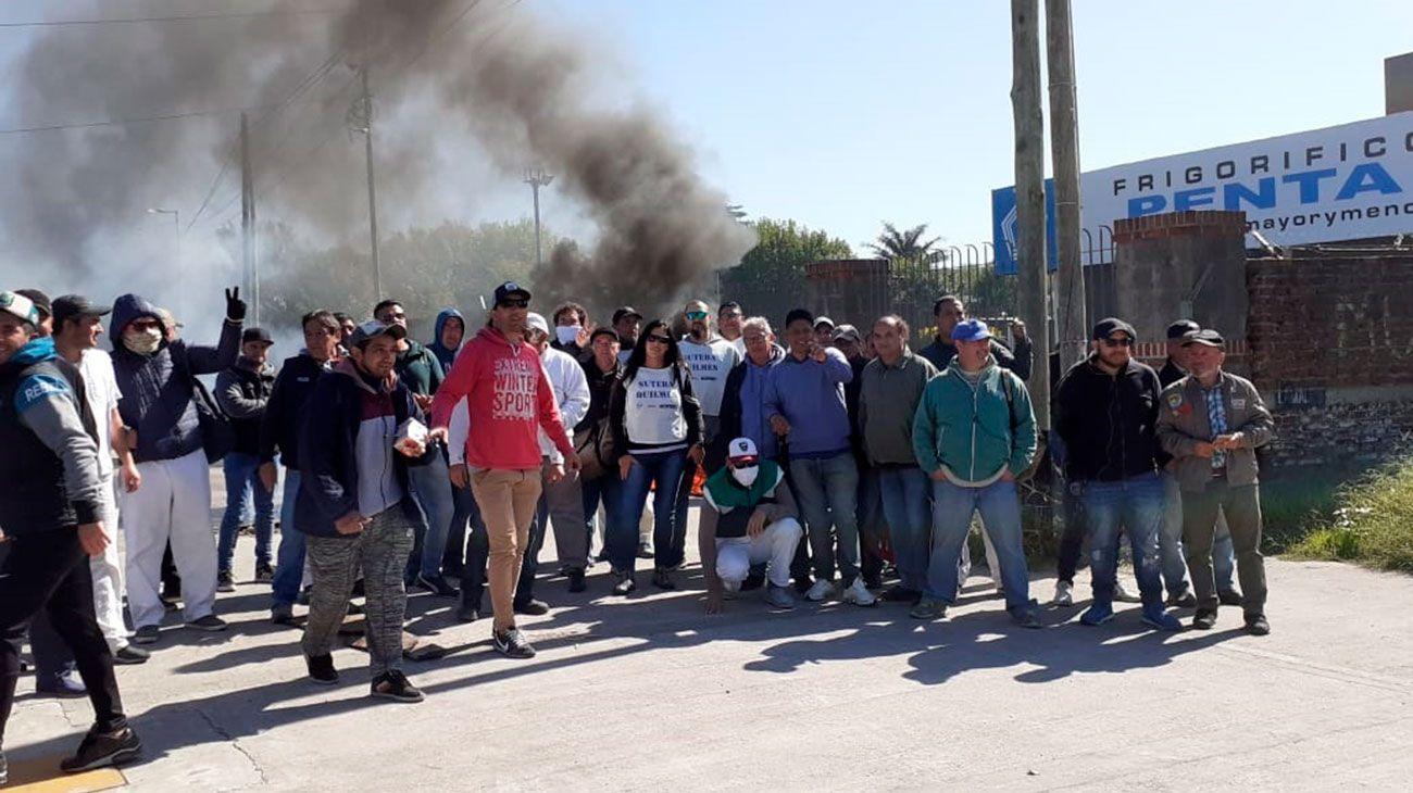 Represión en el frigorífico Penta en Quilmes