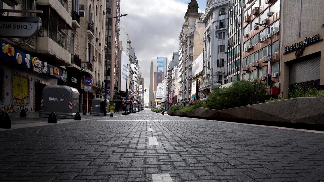 Ciudad de Buenos Aires en Viernes Santo.