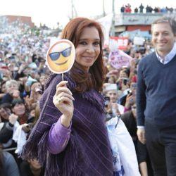 Crisitina con Fernando Gray durante la campaña | Foto:CEDOC