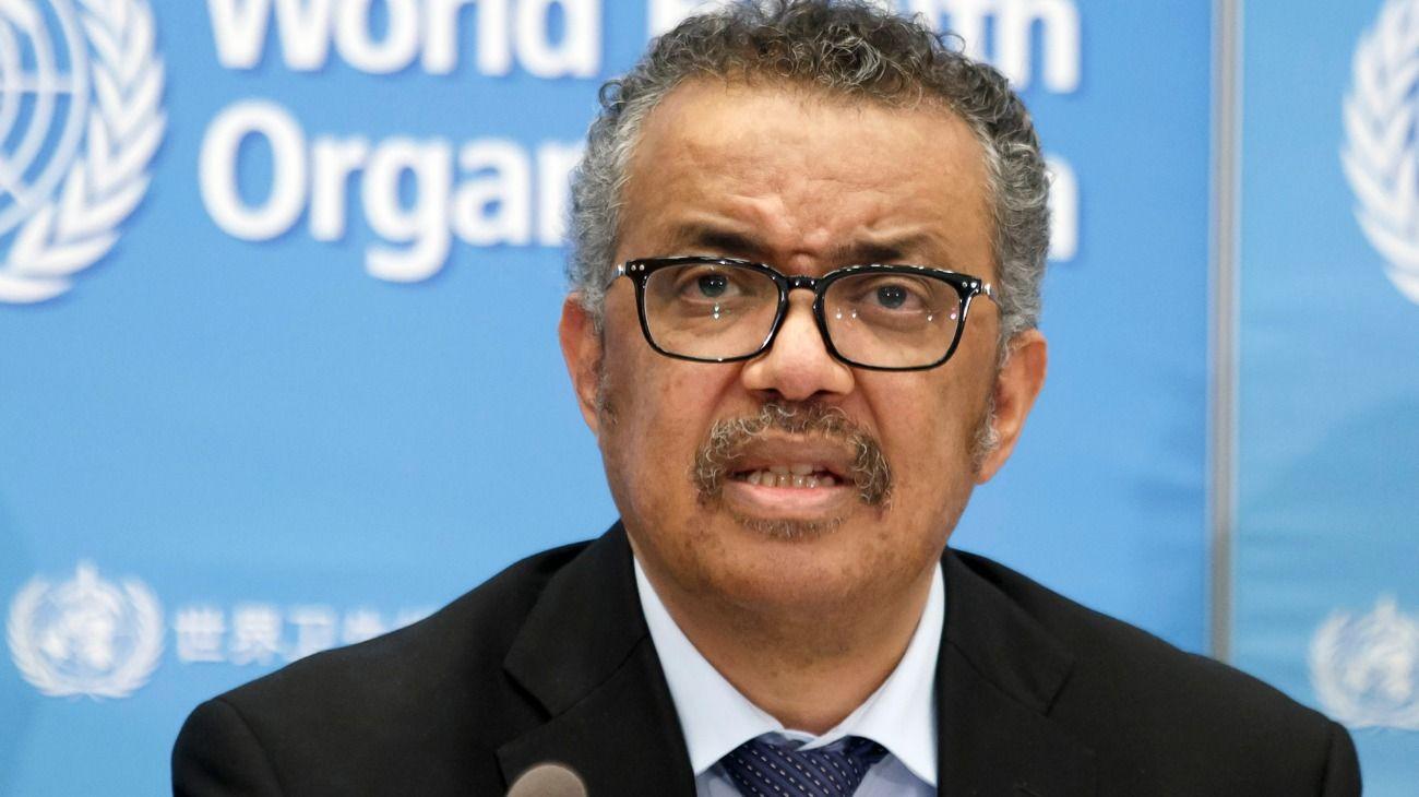 El director de la OMS, Tedros Adhanom Ghebreyesus.