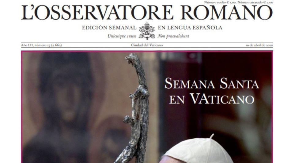 L'Osservatore Romano papa francisco semana santa g_20200410