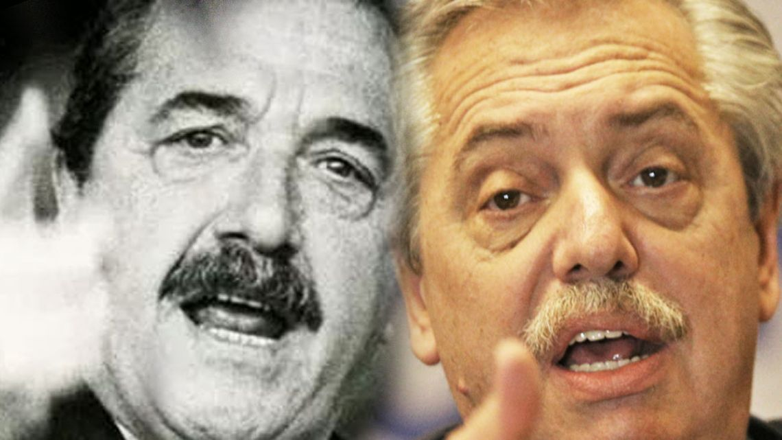 Argentinian Presidents Raúl Alfonsín and Alberto Fernández.