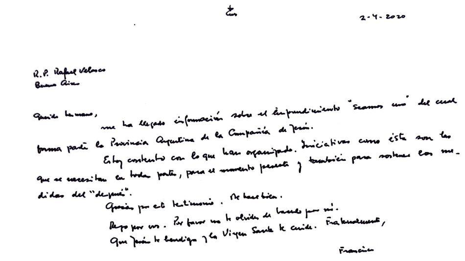 carta francisco seamos uno g_20200411