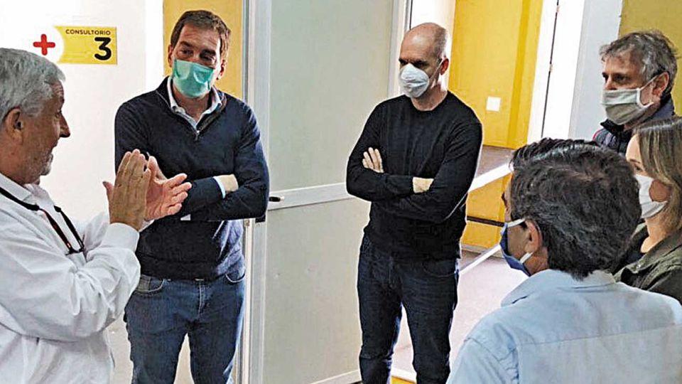 Larreta, Santilli y Felipe Miguel.