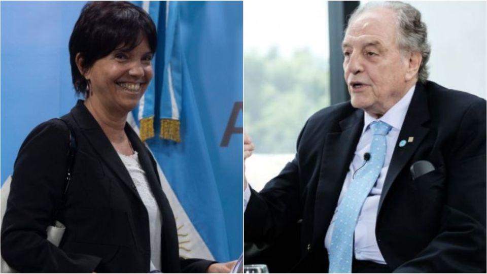 Mercedes Marcó del Pont, titular de la AFIP. Carlos Heller, diputado nacional.