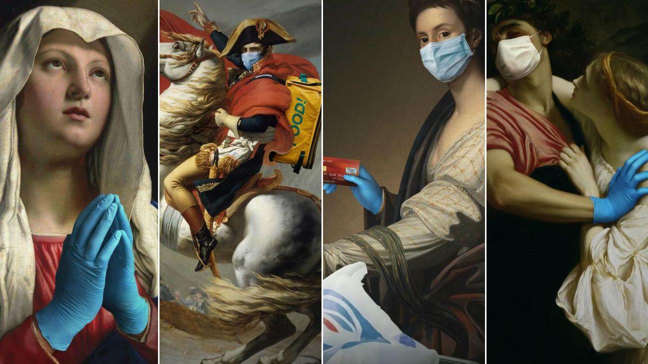 Las piezas de arte clásicas obtienen una nueva apariencia y enseñan cómo detener la propagación de COVID-19 y mantenerse a salvo.