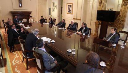 El jefe de Gabinete, Santiago Cafiero, encabezó el encuentro.