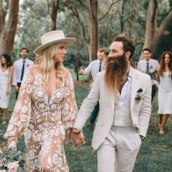 Fotos de la polémica boda.