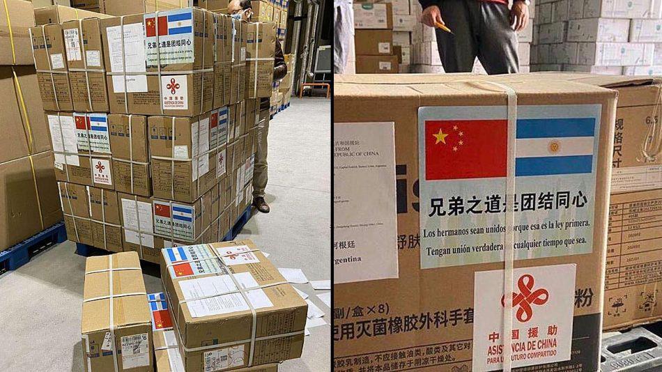 Barbijos desde China para Argentina 20200414