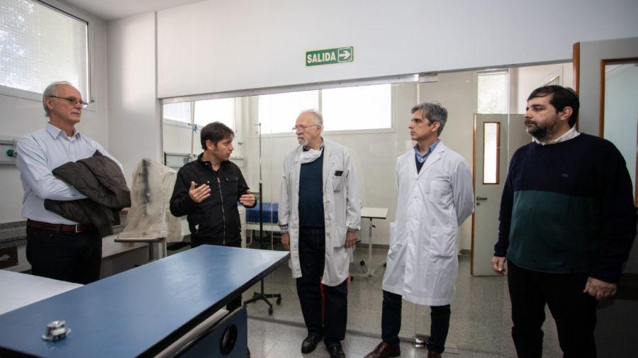 Kicillof visitó el Hospital Manuel Belgrano de San Martín, que registra contagios de coronavirus en sus profesionales. Foto: Cedoc.