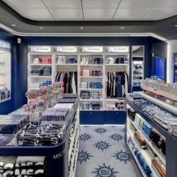 Por ejemplo, una visita a la tienda de regalos del MSC Grandiosa se puede hacer desde la comodidad del hogar.
