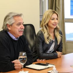 Alberto Fernández y Fabiola Yáñez | Foto:cedoc
