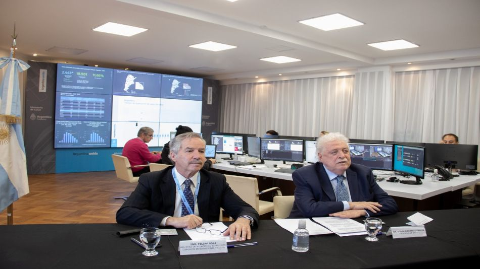 Solá y González García teleconferencia Chile coronavirus Ministerio de Salud 20200415