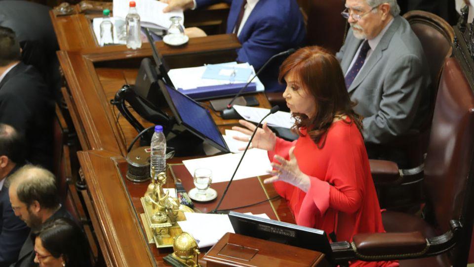 Cristina Fernandez en el Senado