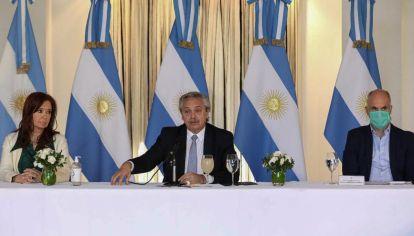"""El presidente Alberto Fernández admitió esta tarde que la Argentina está """"en una suerte de default virtual"""