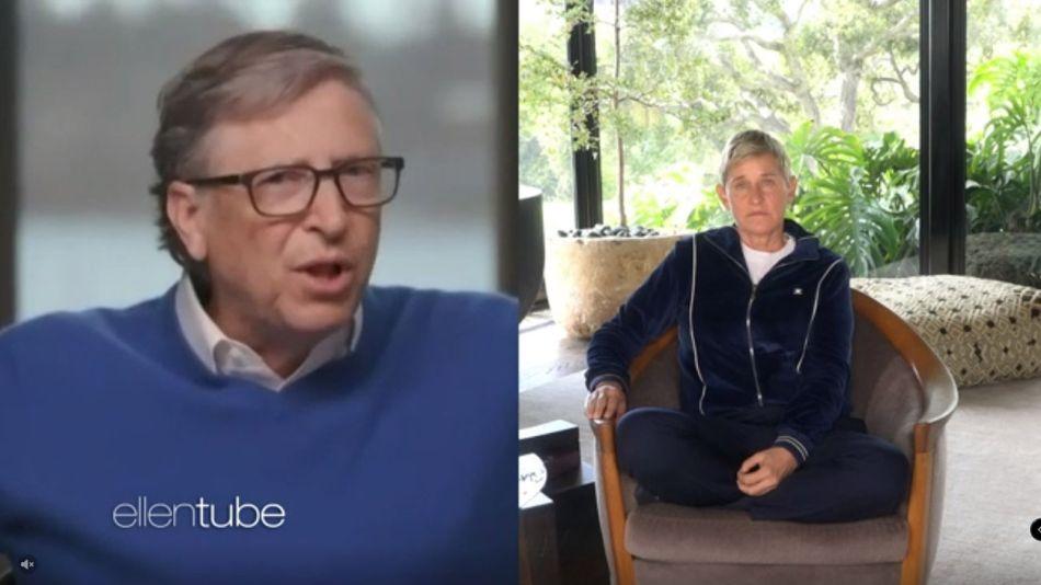 Bill Gates con Ellen DeGeneres