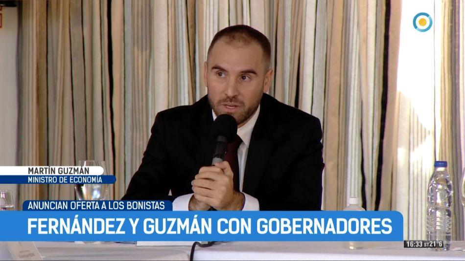 Guzmán, en la previa a la oferta a los bonistas.