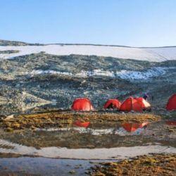 Campamento donde se encontraron los elementos vikingos