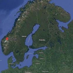 Ubicación geográfica donde se hallaron los restos de artefactos vikingos.