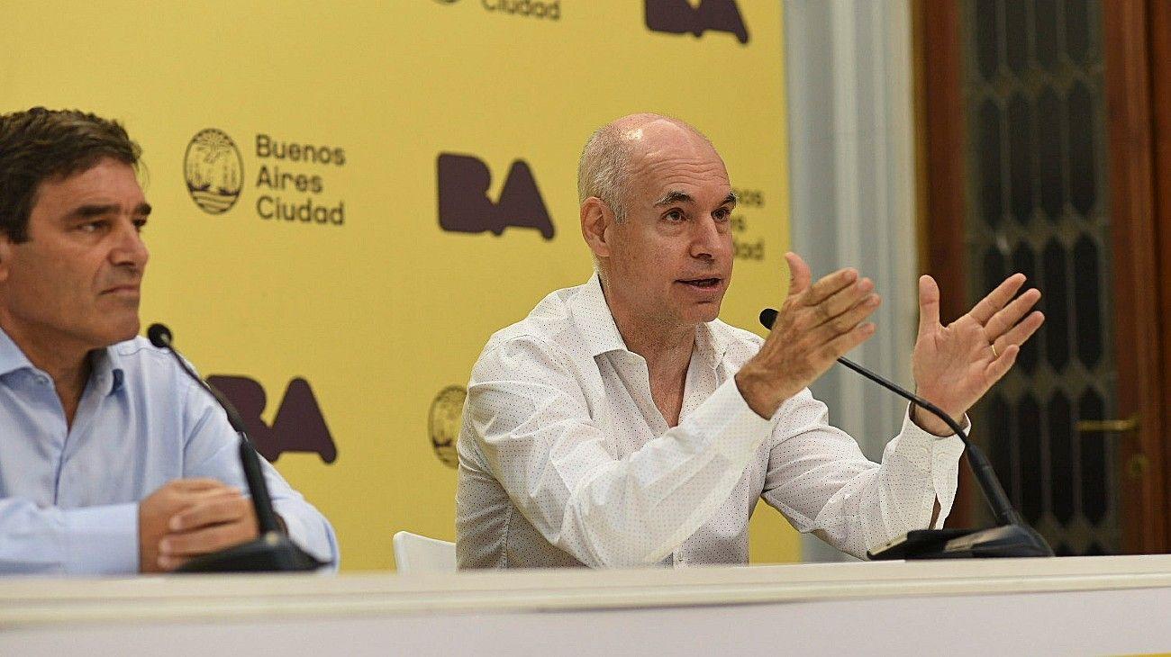 El jefe de Gobierno porteño, Horacio Rodríguez Larreta, y el ministro de Salud, Fernán Quirós.
