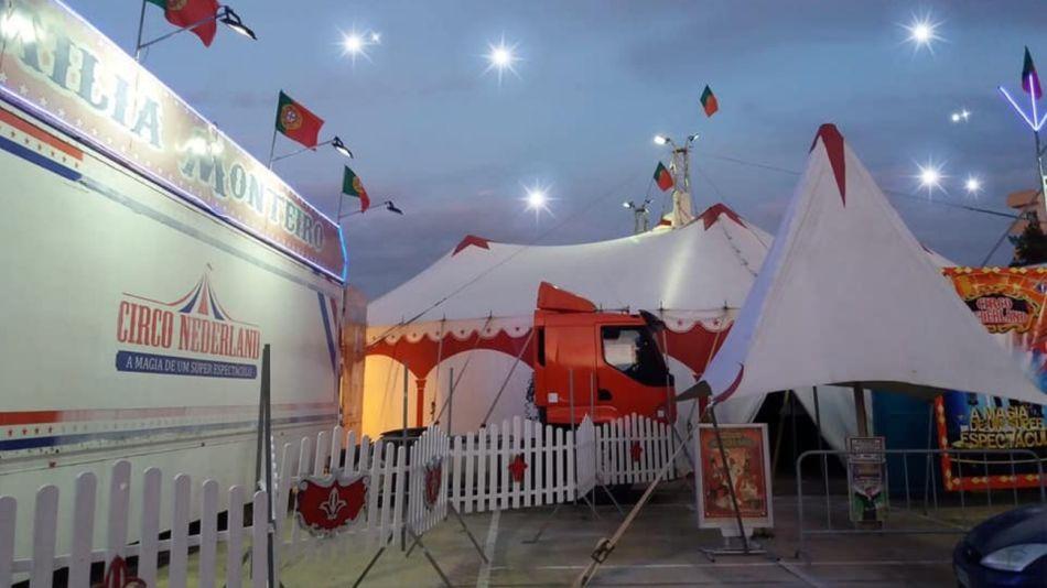 El circo Nederland, varado en la ciudad portuguesa de Figueira da Foz