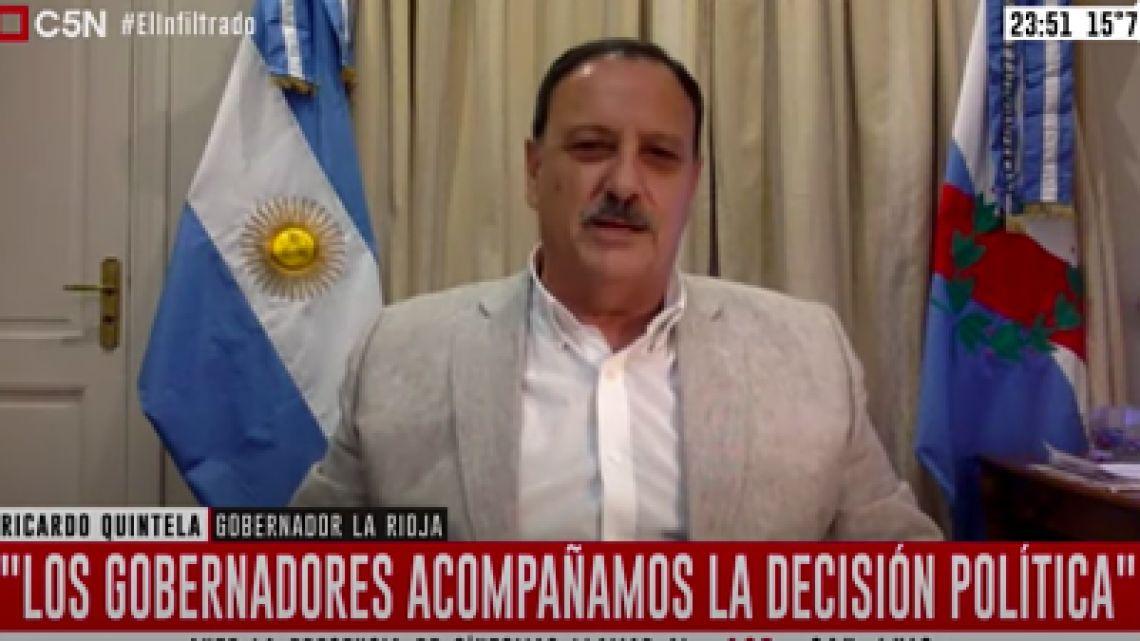 VIDEO: El gobernador de La Rioja explicó su furcio sobre el cierre de cabarets